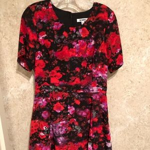 BB Dakota Floral Mini Dress with Peephole back